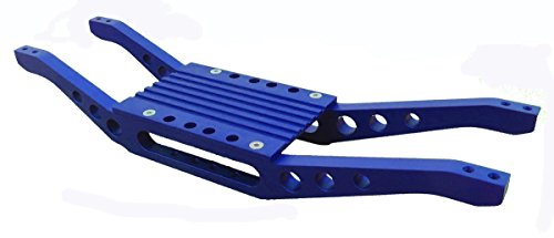(RC Raven T-Maxx 4907 or 4908 BLUE Anodized Aluminum bottom braces with free center skid)