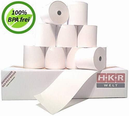 50 Thermorollen f/ür Zebra ZQ510 BPA zertifizierte HKR-Welt/® Bonrollen aus Thermopapier frei Bisphenol-A Thermo Kassenrollen 80//25//12