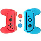 Nintendo Switch Joy-Con Grips Kit,Wear-Resistant Joy-con Thumb Grip case for Switch(Set of 2) – Blue and Red Review