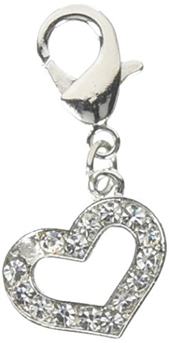 Mirage Pet Products Lobster Claw Heart Charm for Pets, Clear from Mirage Pet Products