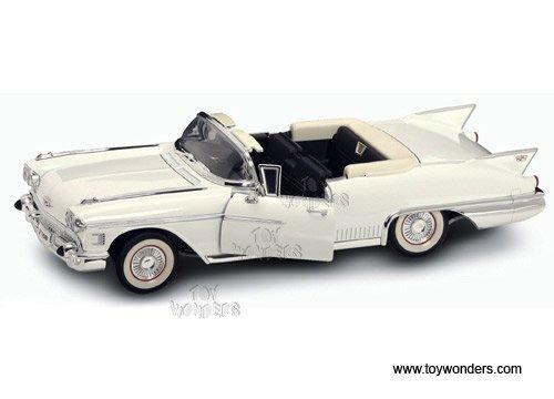 92158w Yatming - Cadillac Eldorado Biarritz Convertible (1958, 1:18, White) 92158 Diecast Car Model 1 18 Vehicle Toy Auto Automobile Metal
