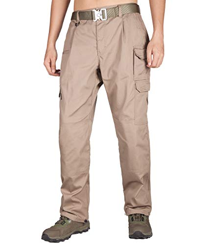 (ITALY MORN Men's Survivor Casual Cargo Pant Relaxed Fit Military Outdoor (36W x 32L, Khaki 19) )