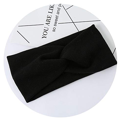 New  Elastic Headband Black Free Shipping