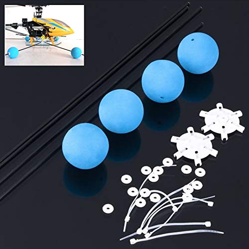Parts & Accessories 1Set Landing Training Kit Gear For Blade 400 Trex 450 500 Rc Helicopter Sponge Balls – (Color: Blue)