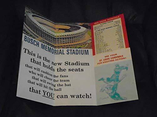 (1966 ST. LOUIS CARDINALS 1ST YEAR NEW BUSCH STADIUM BASEBALL SCHEDULE BROCHURE)