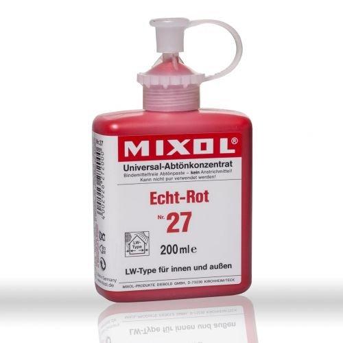 Mixol nº 27Real de color rojo 200ml–Pintura (pigmento abtön concentrado
