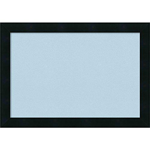 Amanti Art Framed Blue Cork Board Mezzanotte Black: Outer Size 20 x 14'', Small by Amanti Art