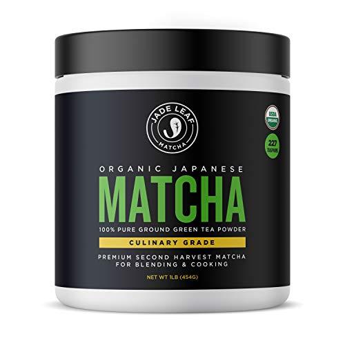 Jade Leaf Matcha Green Tea Powder - USDA Organic, Authentic Japanese Origin - Culinary Grade (Smoothies, Lattes, Baking, Recipes) - Antioxidants, Energy [1lb Bulk Size] (Best Way To Make Green Tea Taste Good)