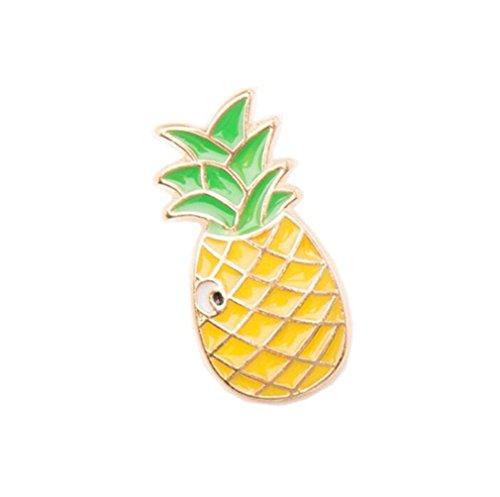 Pin Up Costume Diy (DIMORRY Cartoon Diy Brooch Rainbow Watermelon Pineapple Eyesweyes Enamel Lapel Pins Badge Women)