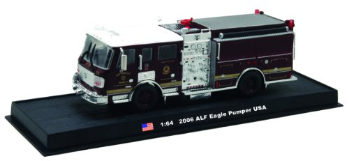 ALF Eagle Pumper Fire Truck Diecast 1:64 Model (Amercom GB-7) - Eagle Diecast Model