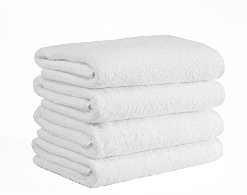 (Classic Turkish Cotton Bath Towel Set - Thick and Soft Terry Cloth Hotel and Spa Quality Bath Towels Made With 100% Turkish Cotton (24 x 48))