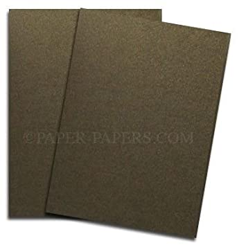 Shimmer Bronze 8-1/2-x-11 Lightweight Multi-use Paper 25-pk - 118 GSM (32/80lb Text) PaperPapers Letter size Everyday Paper - Professionals, Designers, Crafters and DIY Projects paper-papers