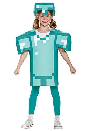 Armor Classic Minecraft Costume, Blue, Medium (7-8) (Mine Craft Costume)