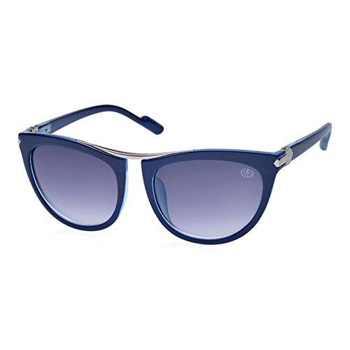 Grand Shades Retro femme de Lunettes surdimensionnées cadre soleil cadre de Meisijia de lunettes soleil bleu C2 qfU4dAqwx