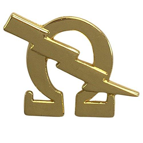 Omega Psi Phi Omega & Bolt Lapel Pin in Gold ()
