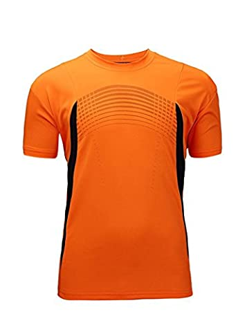 Mens Hipster Hip Hop Lightweight Longline T-shirt Orange US M - Back Music Light T-shirt
