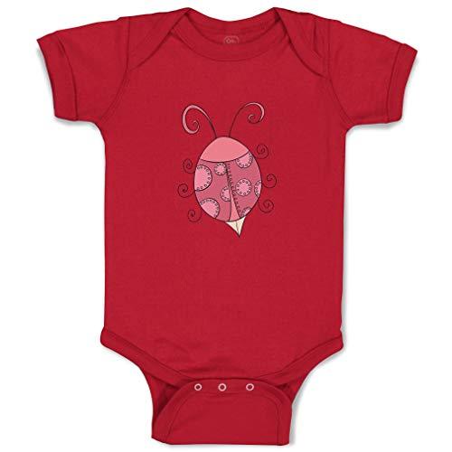 Custom Boy & Girl Baby Bodysuit Pink Ladybug Funny Cotton Baby Clothes Garnet Design Only Newborn