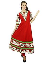 Amoghah Long Anarkali Kurti Long Tunics Tops 3/4 Sleeves Designer Party Wear Kurta