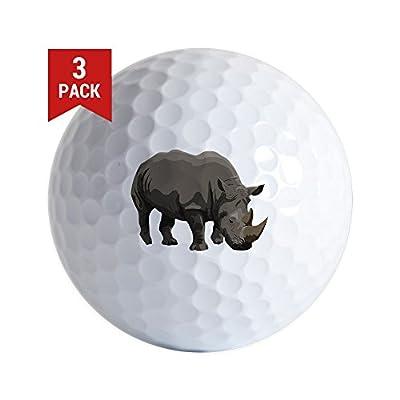 CafePress - Classic Rhino Golf Ball - Golf Balls (3-Pack), Unique Printed Golf Balls