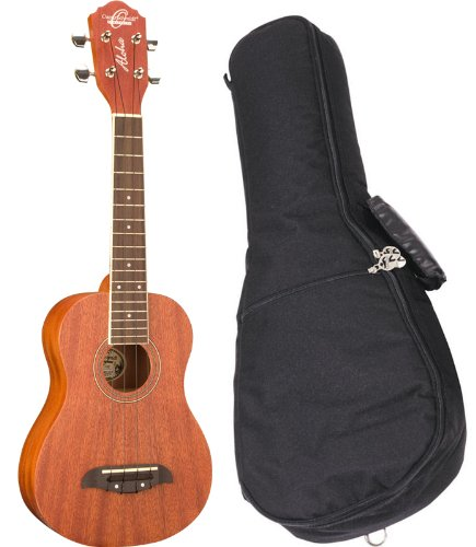 Oscar Schmidt OU2 Mahogany Washburn Concert Ukulele Bundle with Gig Bag