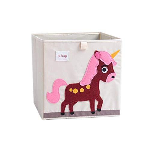 Vmotor Foldable Animal Canvas Storage Toy Box/Bin/Cube/Chest/Basket/Organizer for Kids, 13 ()