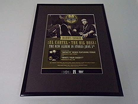 Daddy Yankee 2007 El Cartel Framed 11x14 ORIGINAL Vintage ...