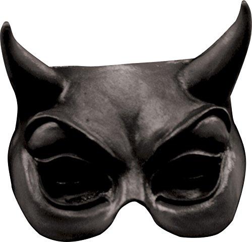 [Ghoulish Productions Devil Black Latex Half Mask] (Devil Half Mask)
