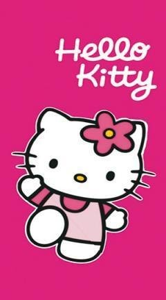 "Hello Kitty toalla o toalla de playa ""Trend Fuschia ..."