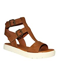 Soda Leatherette Open Toe T-Strap Block Heel City Sandal MVE Shoes