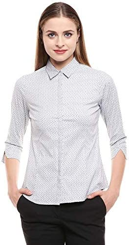 STOP by Shoppers Womens Collared Printed Shirt