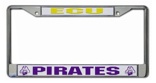 Rico Industries NCAA East Carolina Pirates Standard Chrome License Plate Frame