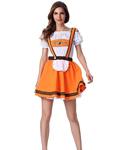 Dlsave Women's Alice Wonderland French Apron Sweetie Maid Cosplay Costume (Medium) (Bar Maid Halloween Costume)