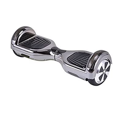 UL2272 Certified Hoverboard with Bluetooth Speaker and LED Lights Smart Self Balancing Scooter Personal Adult Transporter- Chrome Black