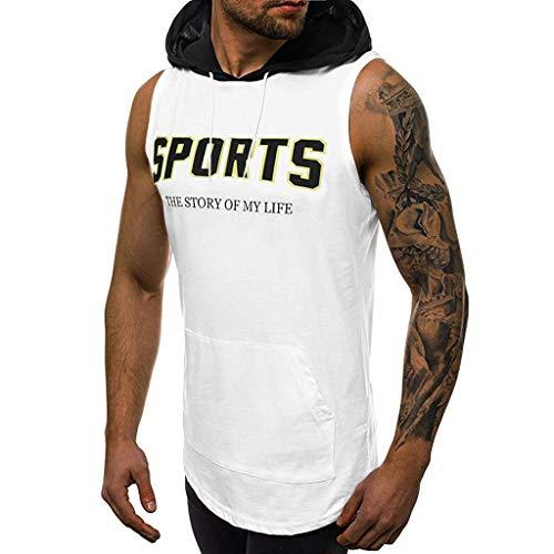 Giulot Men's Sports Hoodie Shirt, Big & Tall Dri-Fit Fitness Tee, Casual Retro Active Raglan Jersey Polo Henley T Shirt White ()
