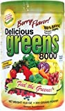 Greens World Inc Delicious Greens 8000, Berry, 8000 Berry 10.6 Oz, Health Care Stuffs