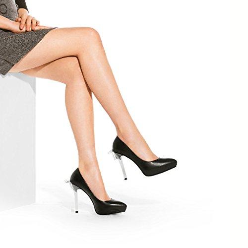 2018 à 36 hauts hauts plate talons hauts 11 taille pointue Noir forme en talons cm chaussures Noir Couleur bow à 5 imperméable l'eau arc talons Chaussures femme nouveau qZAXPP