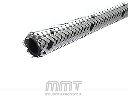 Kraftstoffschlauch Stahlflex 5 X 10mm Benzinschlauch Stahlflex Dieselschlauch Stahlflex Schlauch Auto