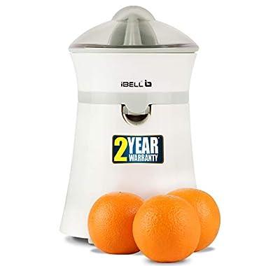 iBELL JU400SG Electric Citrus Fruit Juicer, 20 Watt Juice Maker, Orange Juicer with High Grade Copper Motor, 2 Small Type Squeezers (White) 10
