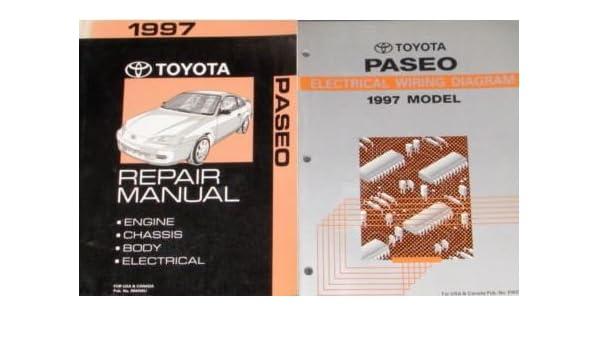 1997 toyota paseo service shop repair manual set oem w wiring diagram ewd  paperback – 1997