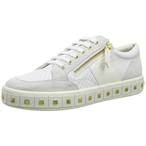chollos oferta descuentos barato Geox D LEELU E Zapatillas para Mujer Blanco White Off White C1352 36 EU