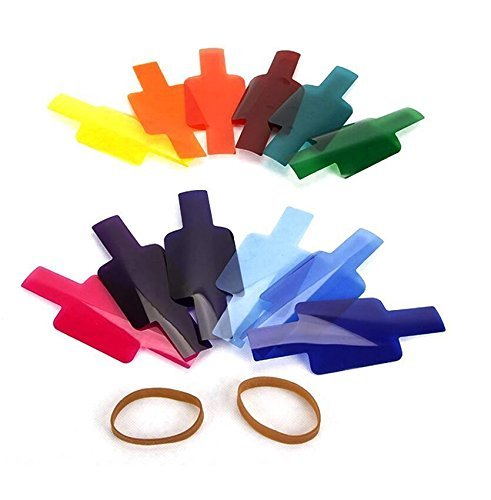 VILTROX 12pc Strobist Flash Color Lighting Gel Pop - Flash Gel Nikon