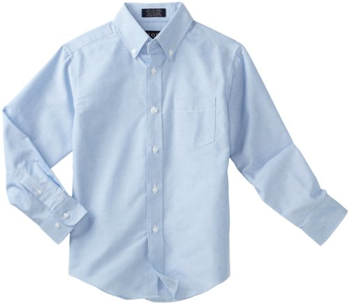 IZOD Kids Big Boys' Long Sleeve Oxford Shirt, Ox Blue, ()
