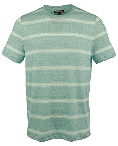 - Michael Kors Men's Linen Blend Lighweight T-Shirt-J-XL