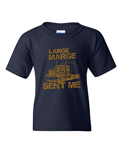 Large Marge Sent Me Truck TV Funny Parody DT Youth Kids T-Shirt Tee (Medium, Navy Blue)