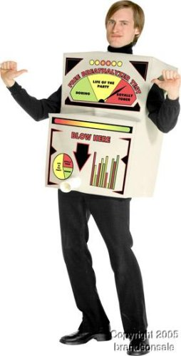 Breathalyzer Costume Adult Costume - One Size