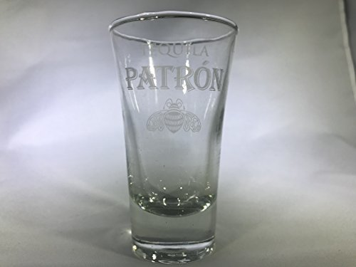 Patron Silver Professional Series Etched Shot Glass by Patron Distillery ()