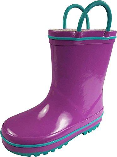 rain boots girls size 2 - 8
