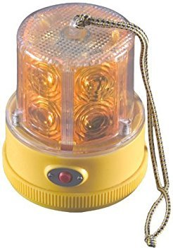 North American Signal PSLM2-A LED Personal Safety Warning Light with Magnetic Mount, Battery Operated, Amber Model: PSLM2-A