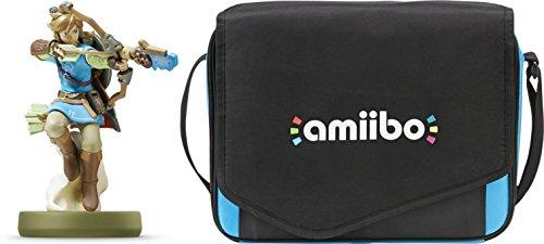 Nintendo amiibo Link (Archer): Breath of the Wild & Insignia Travel Case for Nintendo amiibo Figures Bundle