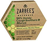 Zarbee's Naturals 96% Honey Cough Soothers + Mucus Natural Lemon Menthol Flavor - 14 ct, Pack of 4